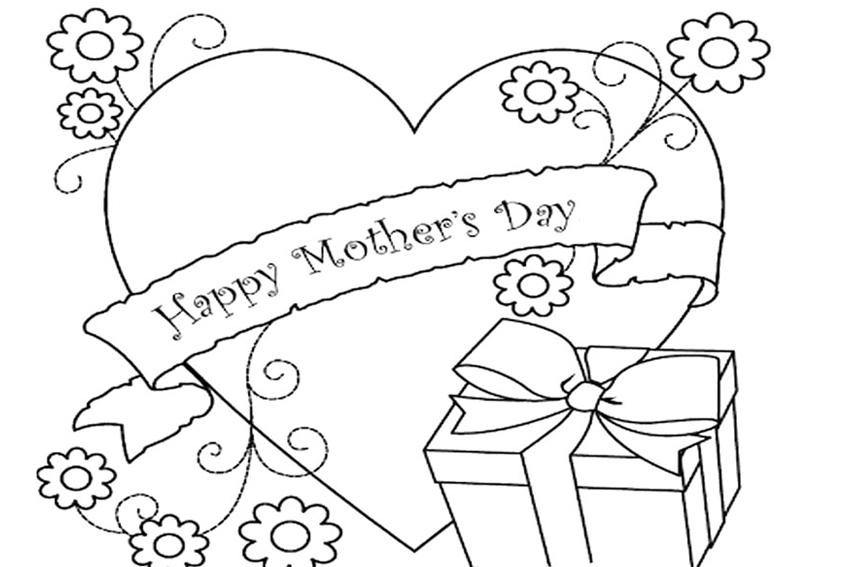 Mothers Day Coloring Pages Happy Mothersday Page