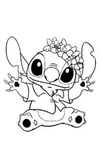 Stitch coloring page