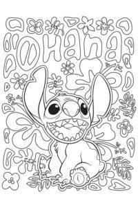 Aloha coloring page
