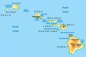Hawaiian map