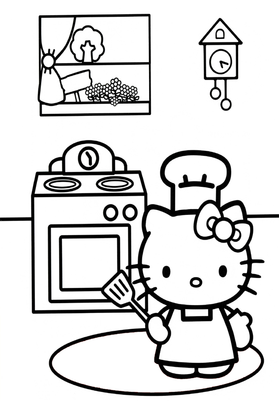 Hello kitty coloring pages overview with a lot of kitties - Coloriage hello kitty ...