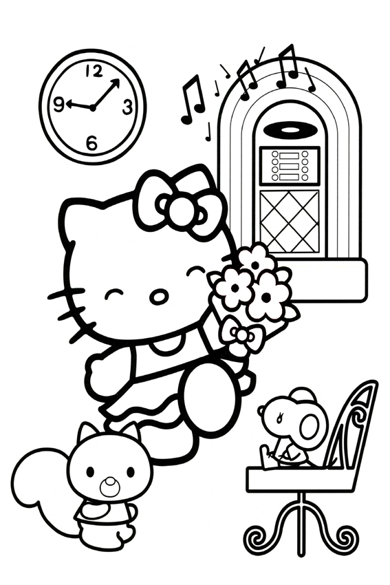 Hide And Seek Hello Kitty Coloring Pages Draw An Apple Color It In Happy Birthday Joey