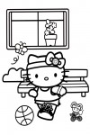 Hello Kitty playing football