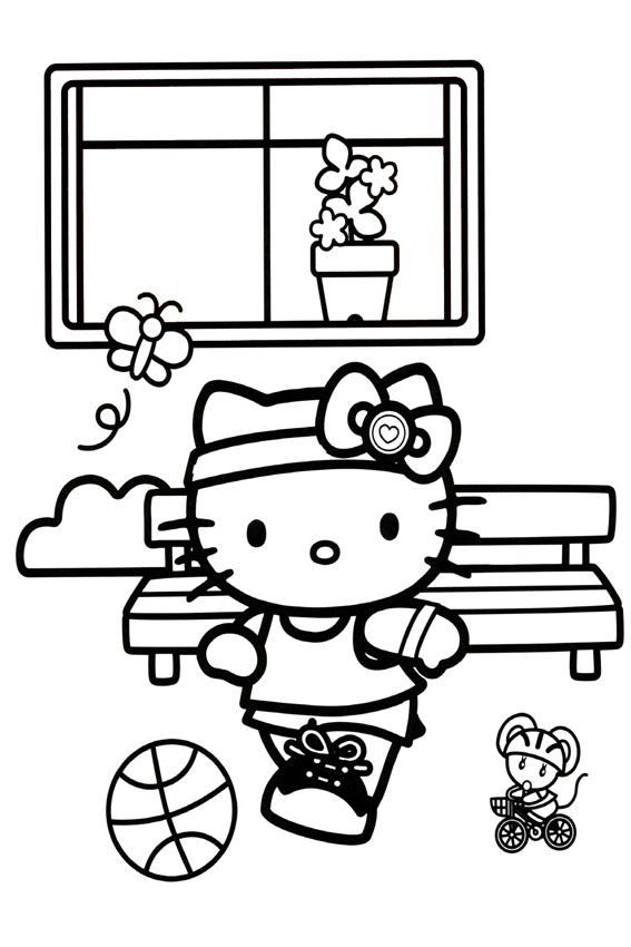 Hello Kitty Soccer Coloring Pages : Hello kitty soccer pages coloring