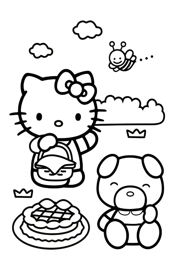 Hello Kitty Coloring Pages Overview Lot Kitties