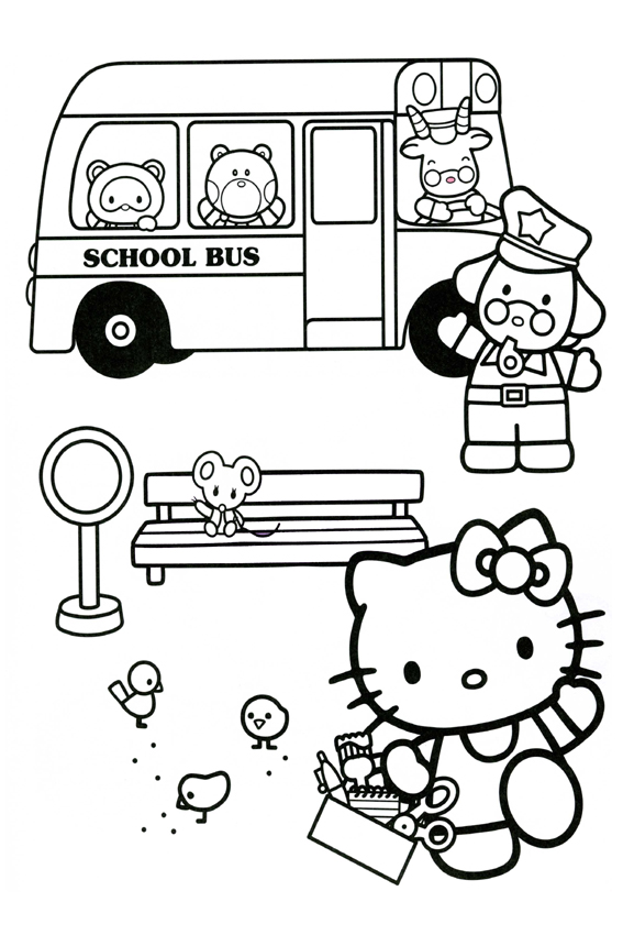 Description With The Hello Kitty Coloring Pages Above 1 Wow This Friend Of Is Really Great Juggling He Must Work At Circus