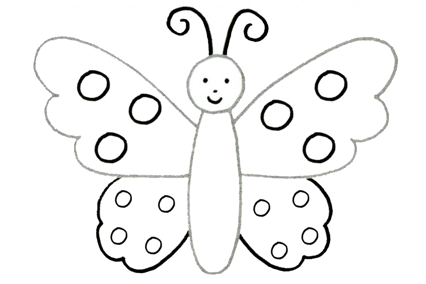 Learn to draw with step by step drawing with 2 to 4 steps for How to make a butterfly drawing