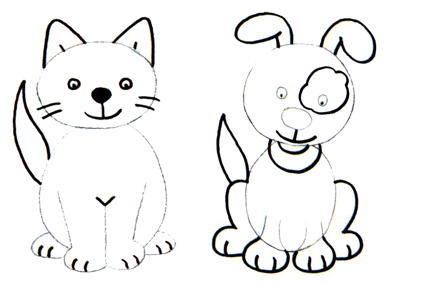 How To Draw A Cute Cat Easy