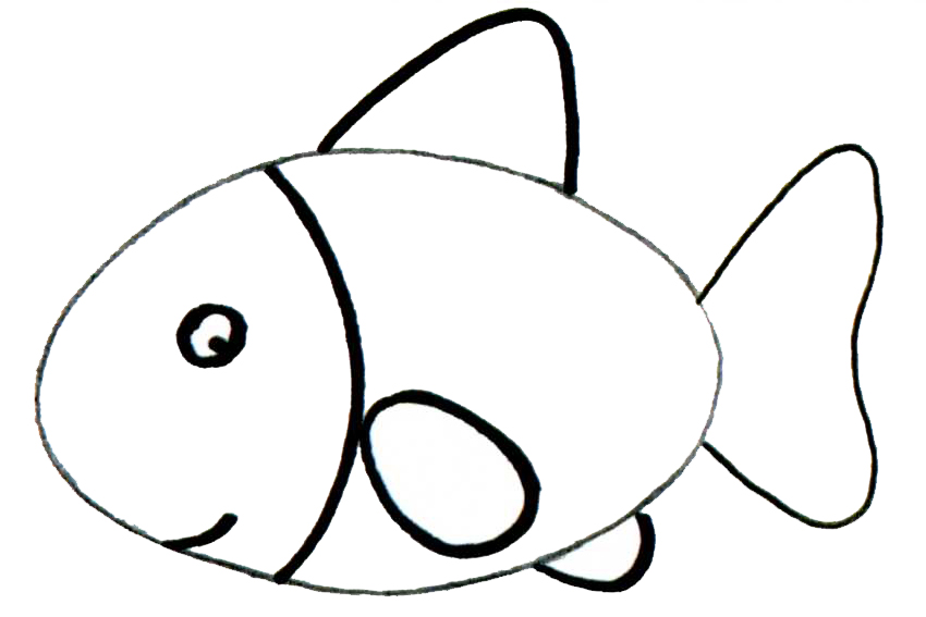 Learn to draw with step by step drawing with 2 to 4 steps for How to draw a fish