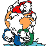 Huey, Dewey and Louie coloring pages
