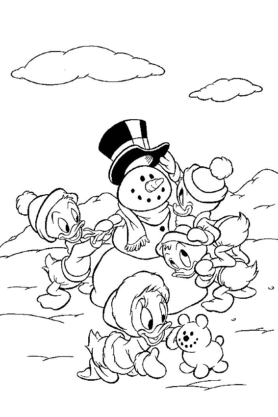 Winter Coloring Pages To Color In When It S Very Cold Outside