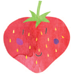 Hand drawn strawberry