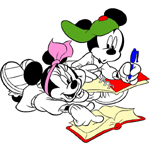 Mickey and Minnie Mouse coloring pages