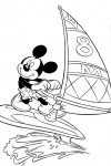 Mickey Mouse windsurfing
