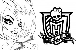 Monster High coloring pages 003