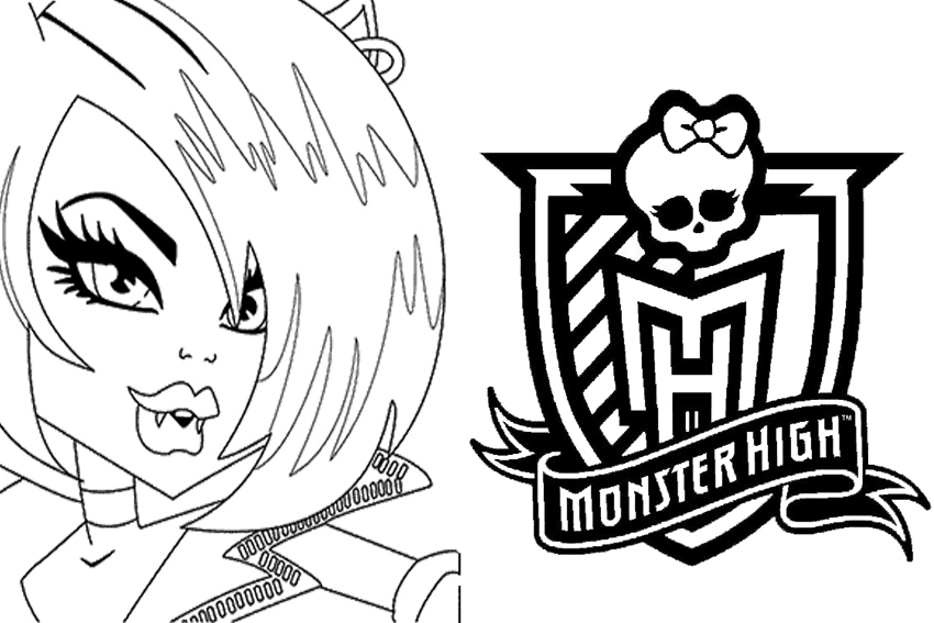 Monster High on free cars 3 coloring sheets