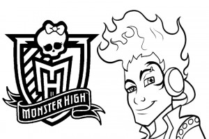 Monster High coloring pages 004