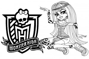 Monster High coloring pages 006
