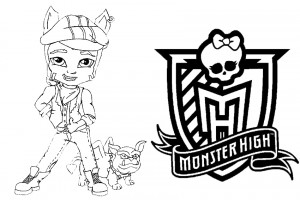 Monster High coloring pages 007