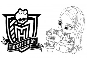 Monster High coloring pages 008