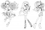 Monster High girls fearleading