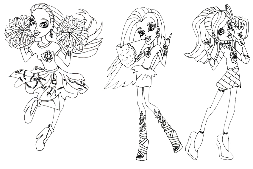 monster high coloring pages - Monster High Coloring Pages