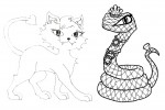 Monster high pets coloring page