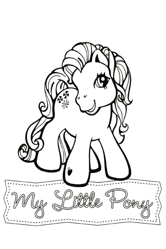My Little Pony coloring pages to print and color in for free