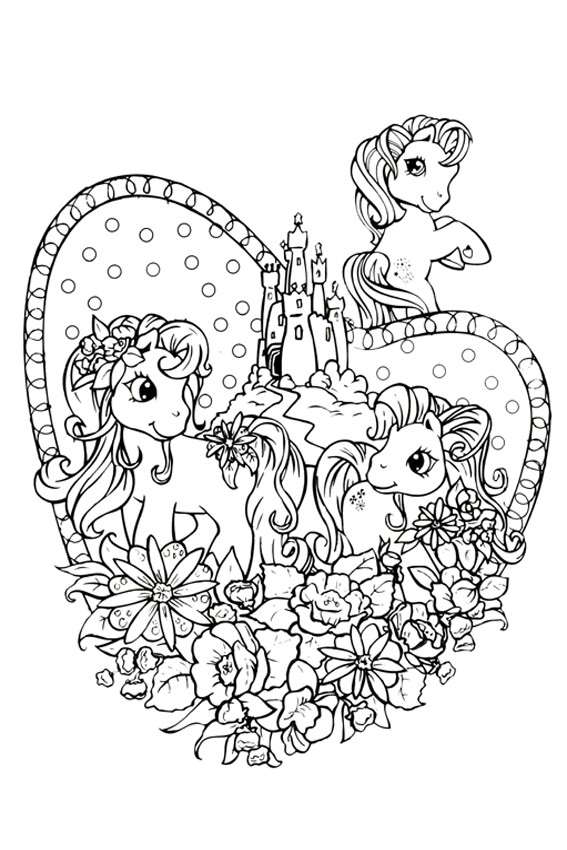 Little Pony coloring pages to print and color in for free