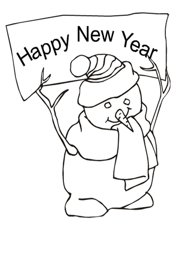 new years childrens coloring pages - photo#48