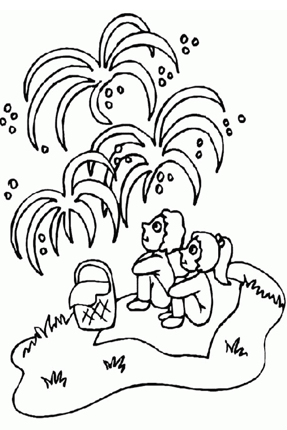 New years eve is the evening to give away a fireworks show for Coloring pages new years eve