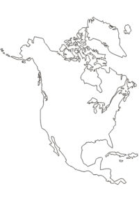Coloring page of North America