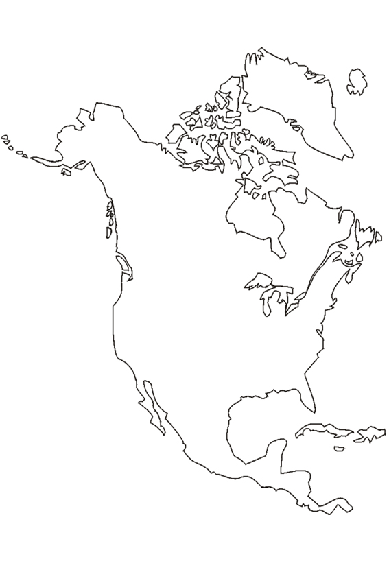 The continent North America Only