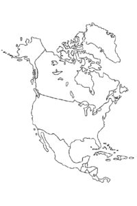 North America coloring pages