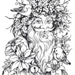 Old world Santa coloring pages