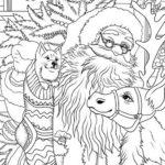vintage christmas coloring page