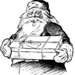 Antique santa coloring page