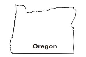 State Oregon coloring map