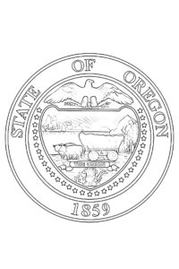 State of Oregon 1859 coloring sheet