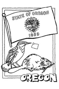 Oregon coloring pages
