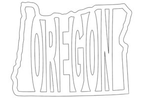 Oregon coloring sheet