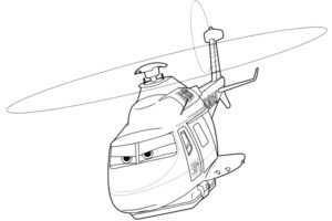 Planes 2 coloring sheet