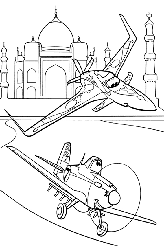 Planes Coloring Pages - Best Coloring Pages For Kids | 850x567