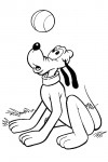 Pluto playing with a ball