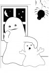 Ghost coloring page