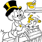 Scrooge coloring pages