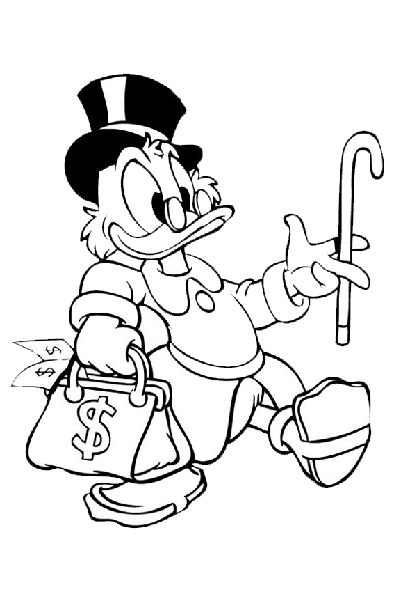 Scrooge Mcduck The Rich Uncle Of Donald Who Swims In Gold