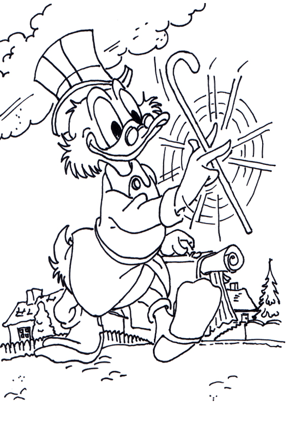 Donald And Daisy Duck Coloring Pages 5
