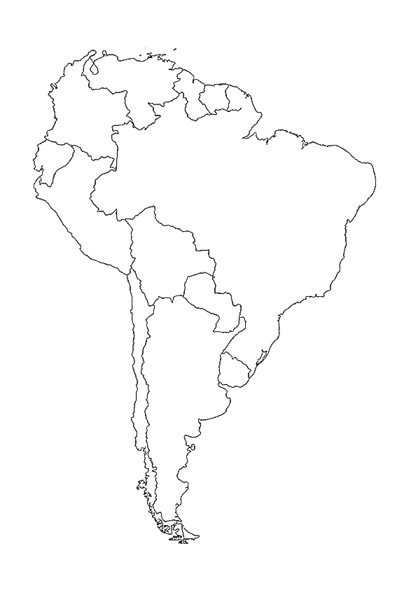 South America coloring pages