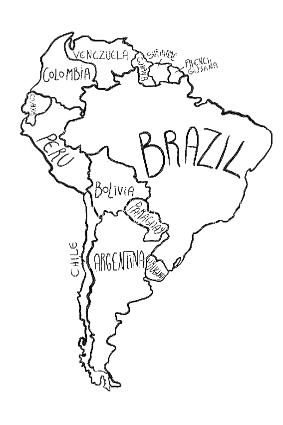 The continent South America Only
